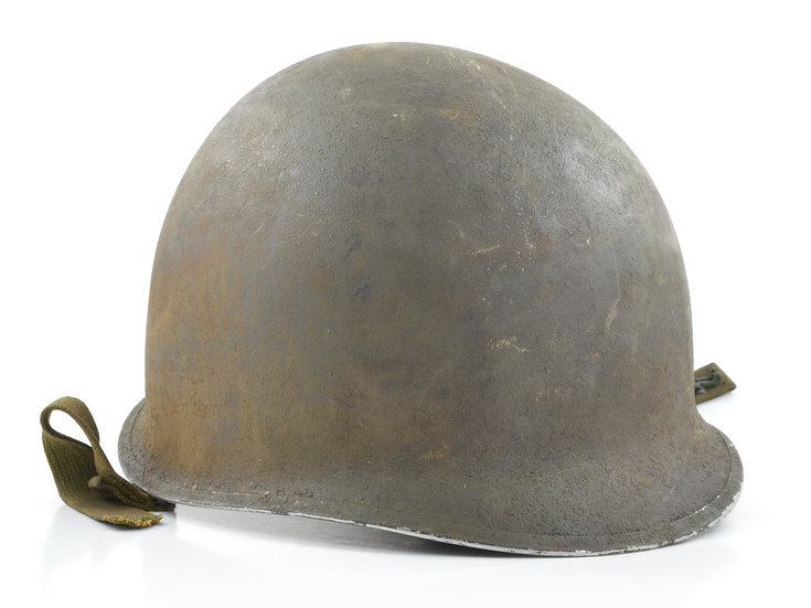 Original WW2 Fixed Loop McCord M1 Helmet Shell (Mid-1941) For Sale