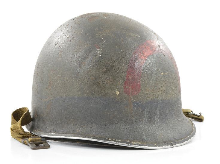 Original WW2 USN D-Day Invasion Naval Beach Battalion Fixed Loop M1 Helmet & Matching Westinghouse Liner Set For Sale