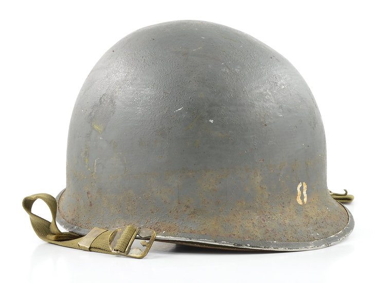 WWII USCG Shore Party Fixed Loop M1 Helmet & Westinghouse Liner (Painted Set)