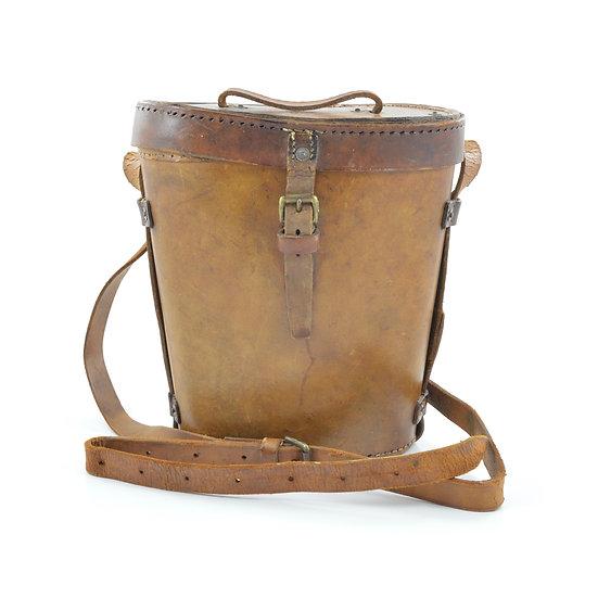 Original WW2 British MK. 1 7x50 Binoculars Prism No. 5 O.S. 097 P I Leather Case W/ Strap (Named) For Sale
