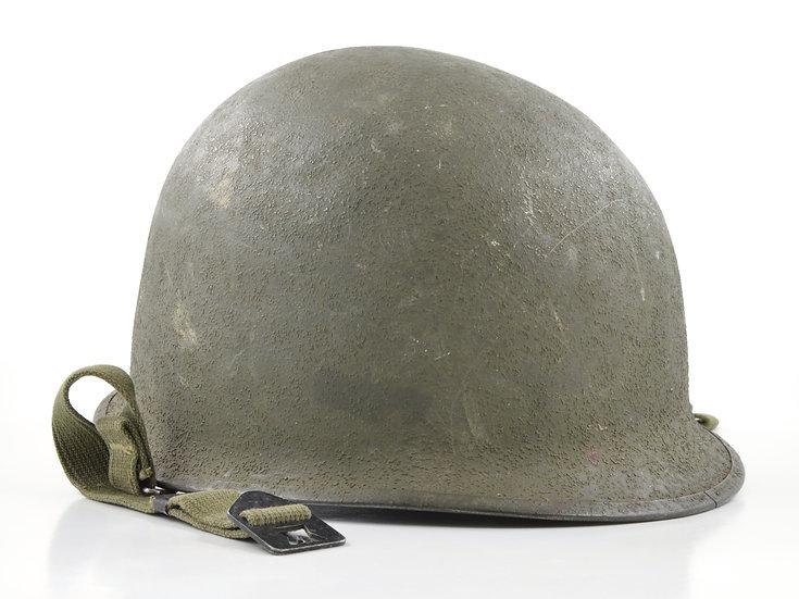 Original Late-WW2 Swivel Loop Schlueter M1 Helmet & Westinghouse Liner (1944 Set) For Sale