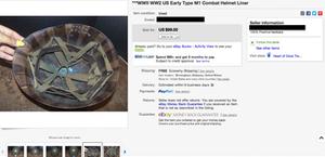 Original WWII helmets for sale