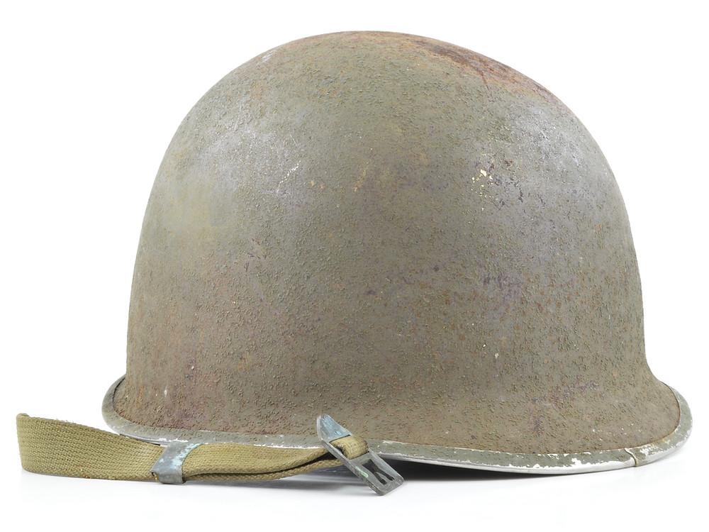 Original WWII Schlueter Fixed Loop Helmet For Sale