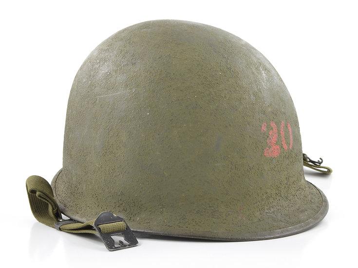 Original Late-WW2 Swivel Loop Schlueter M1 Helmet Shell (1944) For Sale