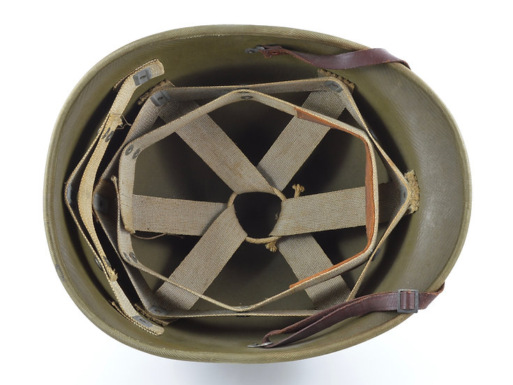 Early-WWII Hawley M1 Helmet Liner With Rayon Suspension (Complete)