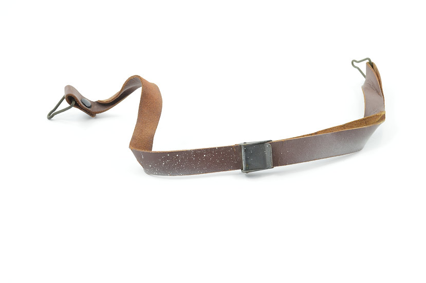 WWII Leather Liner Strap With Black Brass Buckle (Blemished)