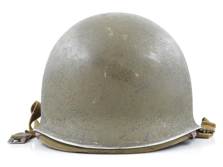 WWII Fixed Loop M1 Helmet & Rayon Hawley Liner (1942 Set)