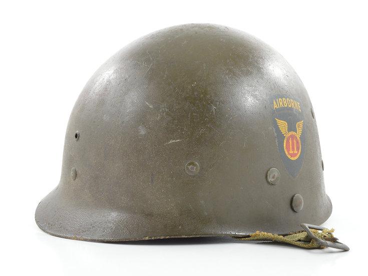 Original WW2 Westinghouse Paratrooper M1-C Helmet Liner (11th Airborne) For Sale