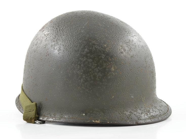 Late-WWII Schlueter Swivel Loop M1 Helmet & Westinghouse Liner (1945 Set)