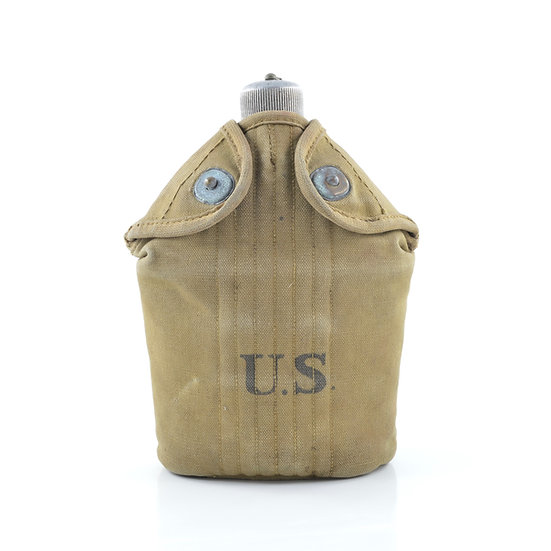 WWI U.S. Canteen, Cup, & Cover (ID'd Set)