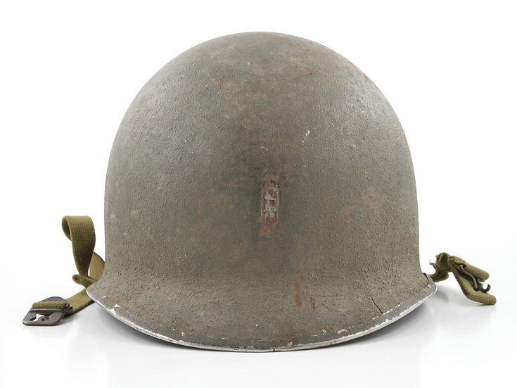 Original WW2 Lieutenant's Fixed Loop McCord M1 Helmet Shell (September 1942) For Sale