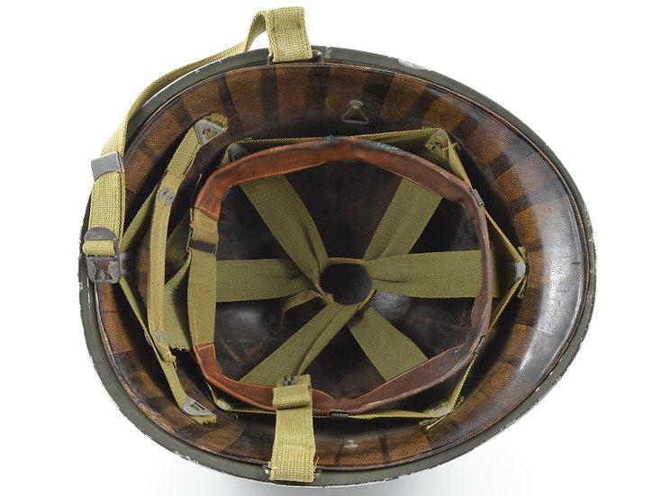 WWII Fixed Loop M1 Helmet & Inland Liner (1942 Set)