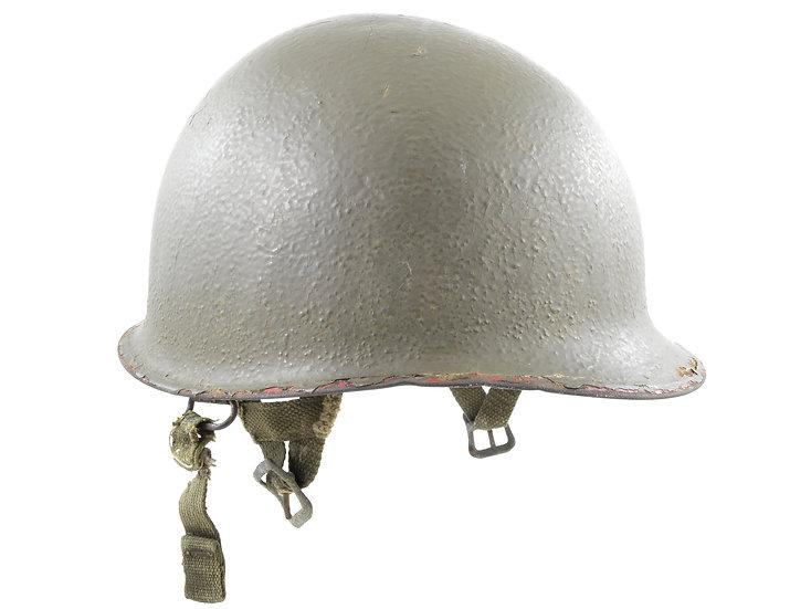 WWII M1-C Paratrooper Helmet & Westinghouse Airborne Liner (ID'd Set)