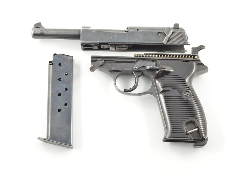 A partially disassembled Spreewerk P.38.