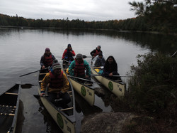 students on a canoe trip 2018