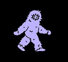 The SASS logo, a purple sasquatch