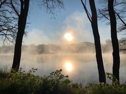 Východ slunce nad Zámeckým rybníkem