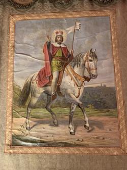 Korouhev s vyobrazením svatého Václava