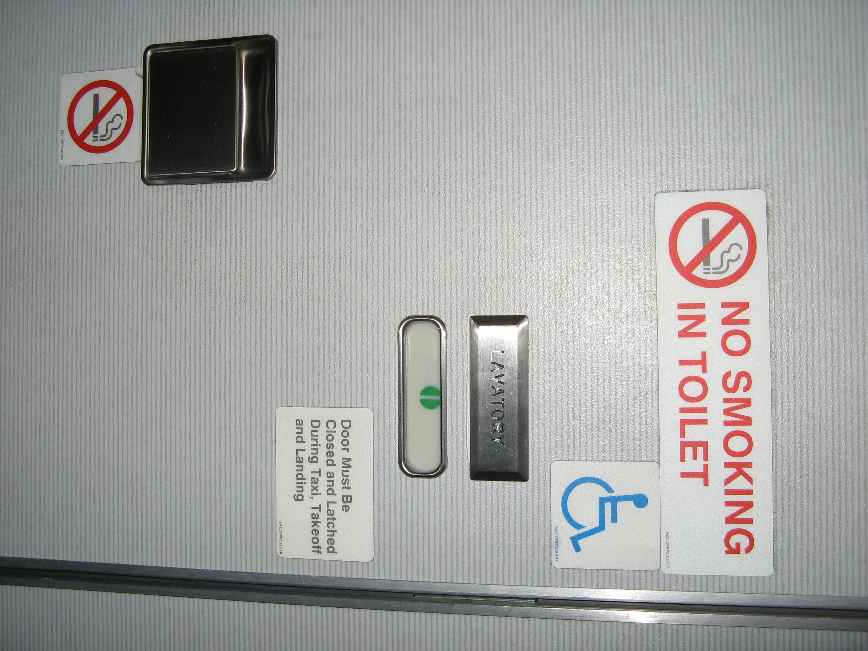 Aircraft Toilet Decal
