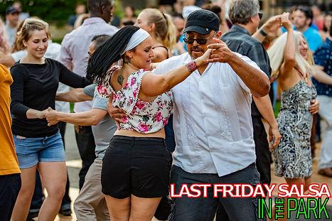 Shawn Gardner Dancing Last Friday Salsa in the Park