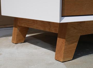 Mid Century Modern Dresser Details