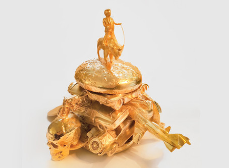 Sculptor Alexander de Cadenet serves up Donald Trump on burger bun