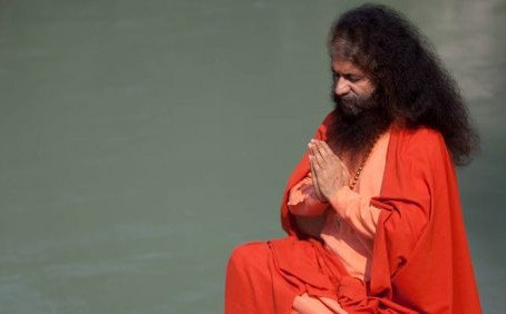 Swami Ji Interviewed on the banks of the river Ganges.
