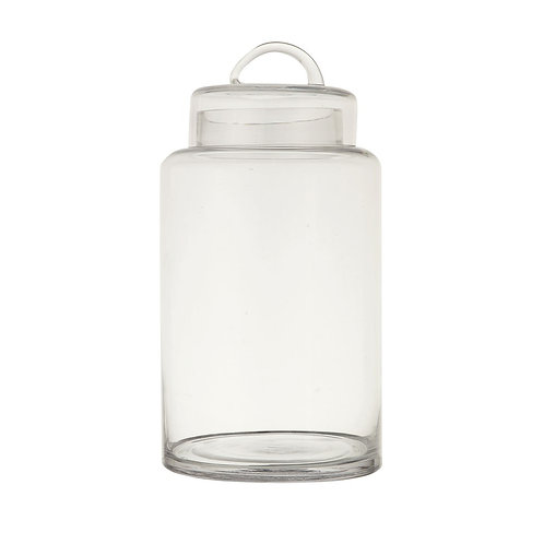 Round Glass Jar with Lid