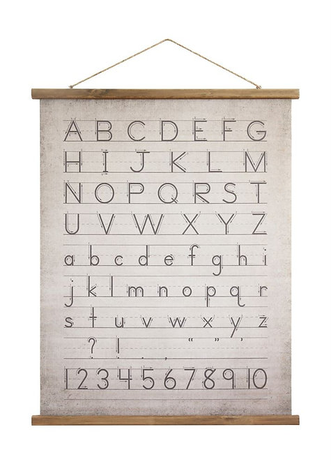 Canvas and Wood Alphabet Scroll