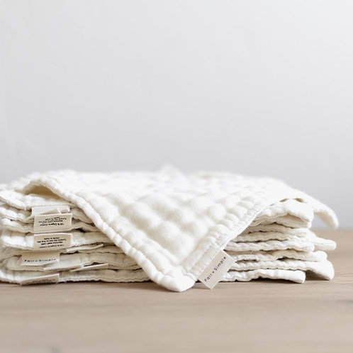 Organic Wash Cloth Set