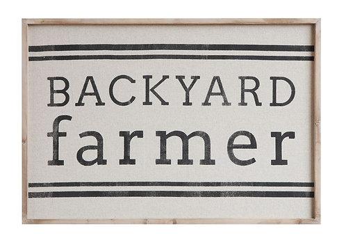 Backyard Farmer Wall Sign