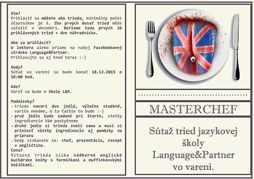 Masterchef, súťaž študentov jazykovej školy Language&Partner vo varení