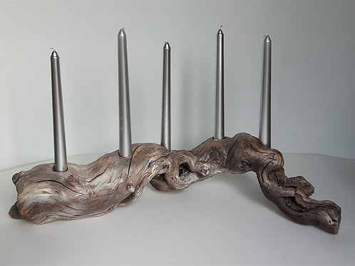 Silver-Grey Candle Holder