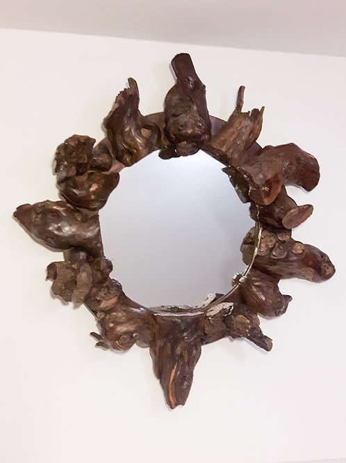 Small Circular Vine Mirror