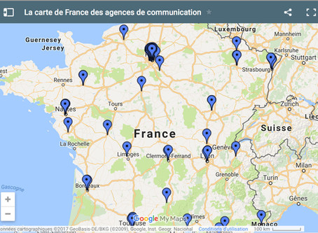 La carte de France des agences de communication