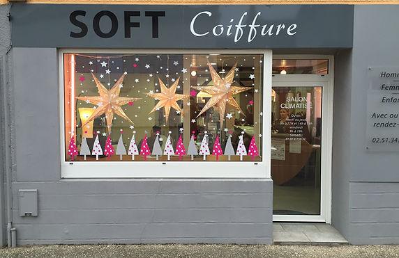 décoration vitrine Noël