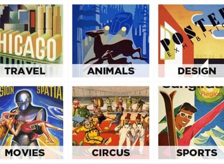5000 affiches de pubs vintage tombées dans le domaine public en téléchargement gratuit