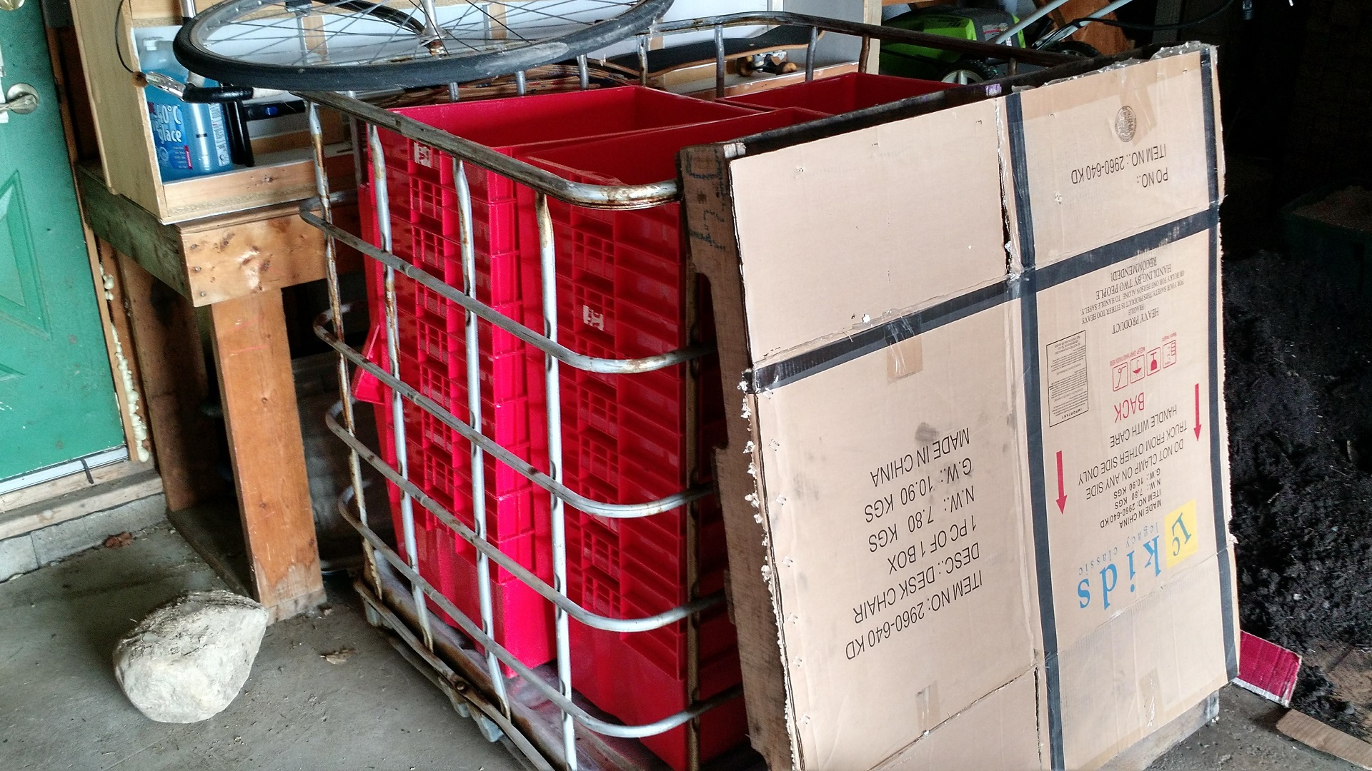 Storage Totes in Garage