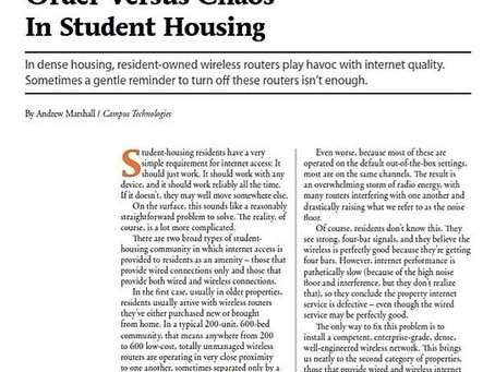 Order Vs chaos In Student Housing
