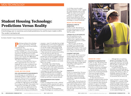 BBC Magazine Has Published Our Article on Student Housing Tech: Predictions Vs. Reality