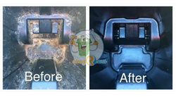 trash can cleaning before and after