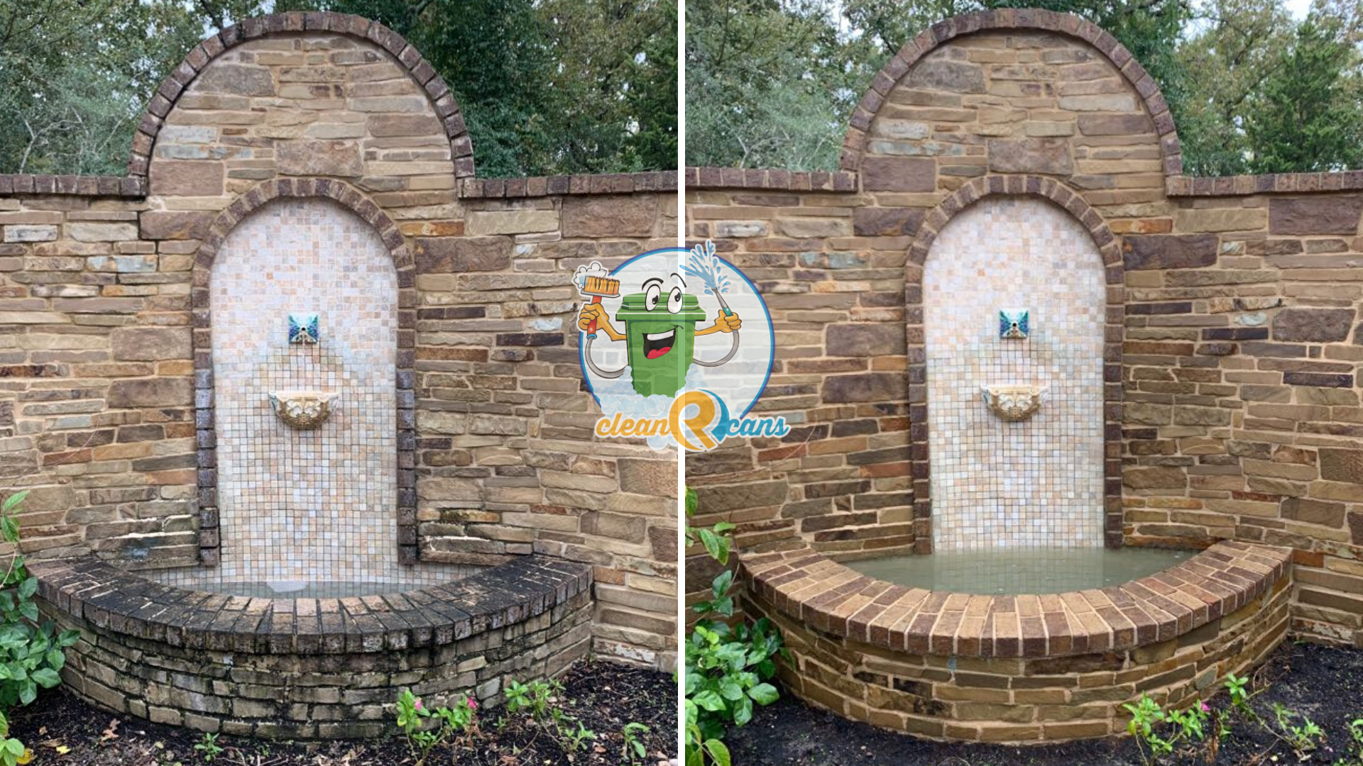 Fountain Cleaning Before & After