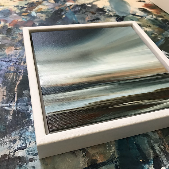 """White Tray Frame (for 8 x 8"""" canvas boards)"""