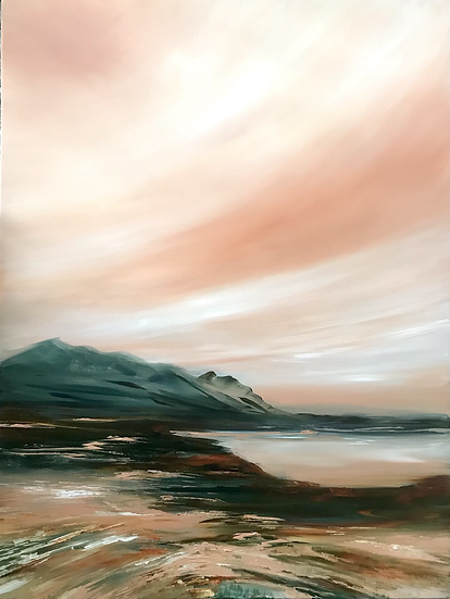 Below Ben Dearg - contact the Holroyd Gallery to Purchase