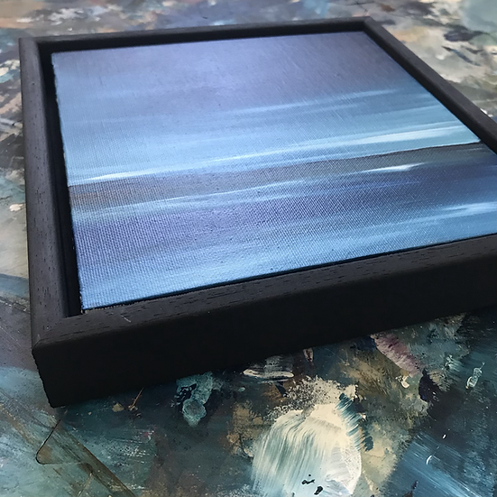 """Black Tray Frame - for 8 x 8"""" canvas boards"""