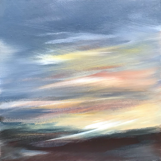 Sun Rise before Ben Klibreck - AVAILABLE TO BUY FROM GALERIE FANTOOSH, DINGWALL