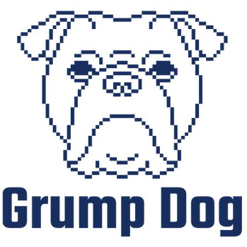Grump Dog Blue Logo