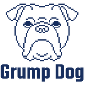 Grump Dog Blue Logo