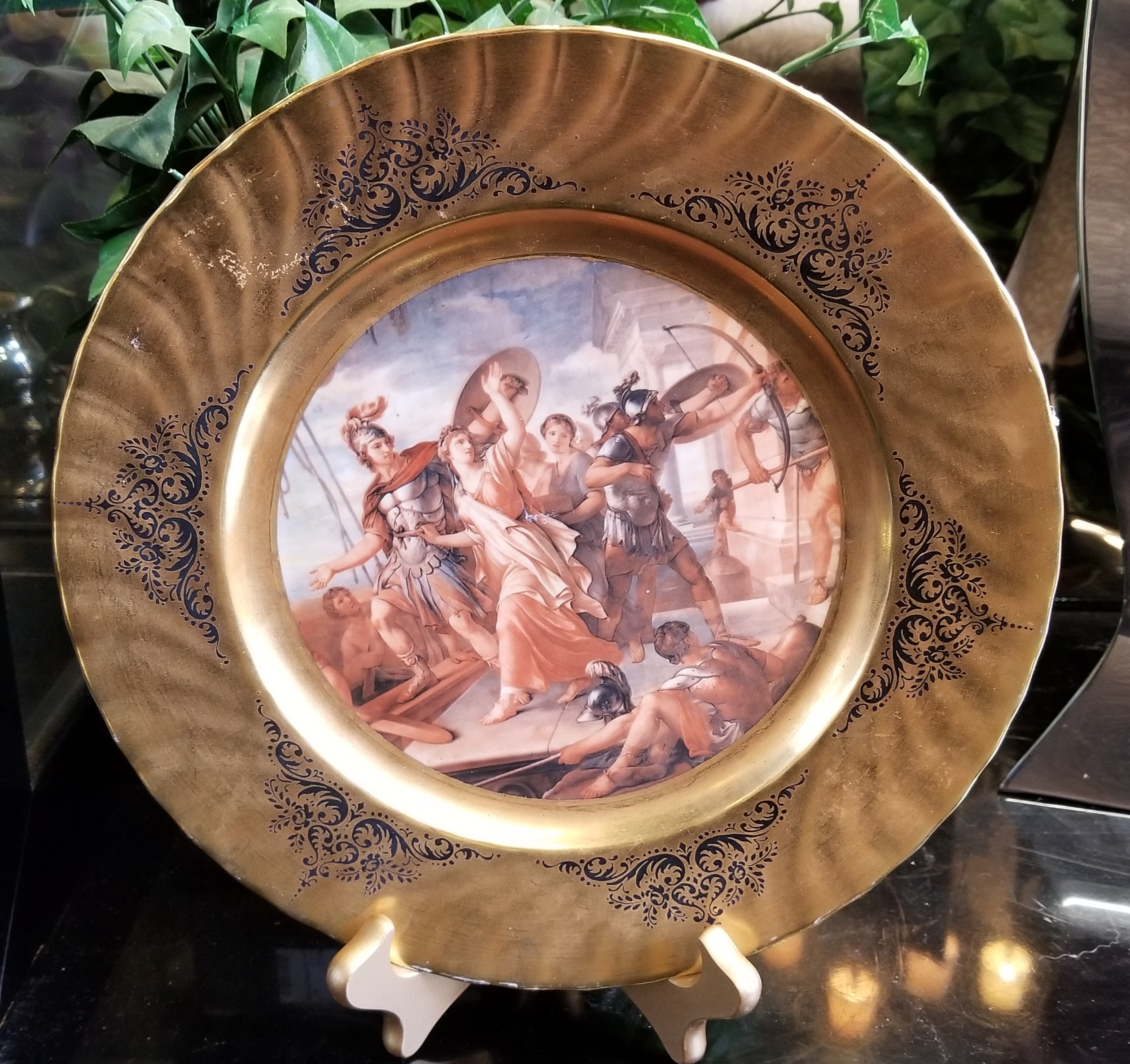 Bavarian Gold Hand Painted plate