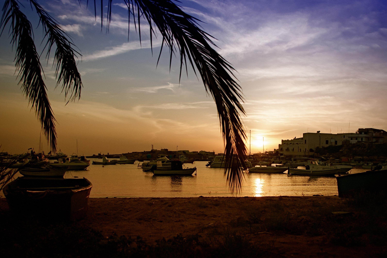 Tramonto al Porticciolo di Lampedusa